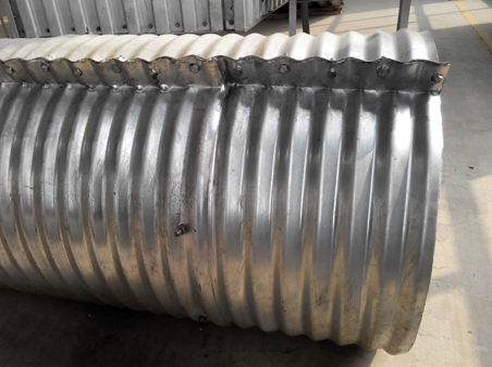 Flanged Nestable Metal Pipe Cuvlert