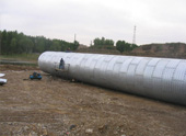 Application of the corrugated metal pipe