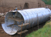 The structure and characteristics of the corrugated steel pipe