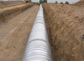 Corrugated Steel Pipe Roughly Installing Operation