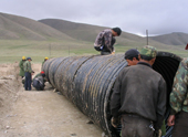 The application of corrugated steel culvert
