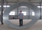 New spiral corrugated metal pipe
