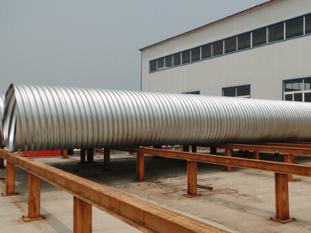 The forming technology of the corrugated metal culvert pipe