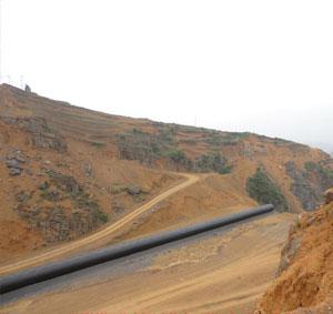 Corrugated steel pipe in BiWei expressway, diameter 3 meters