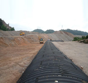 Diameter 6 meters corrugated metal culvert pipe with bitumen coating in KaiLi