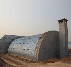 Corrugated metal structure plate arch apply to magazine