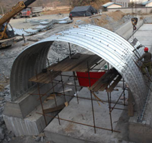 Corrugated metal arch, span 8 meters, applied to SongTong expressway