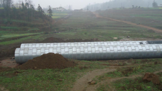 corrugated culvert pipe