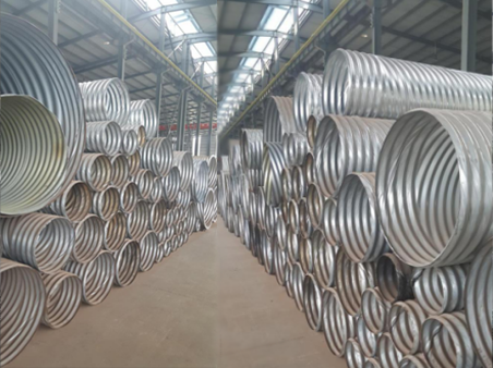 Rolled corrugated metal pipe