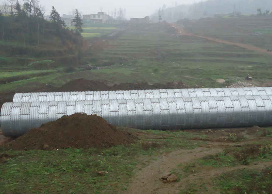 Multi plate corrugated steel pipe