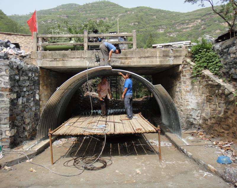 Galvanized corrugated metal pipe