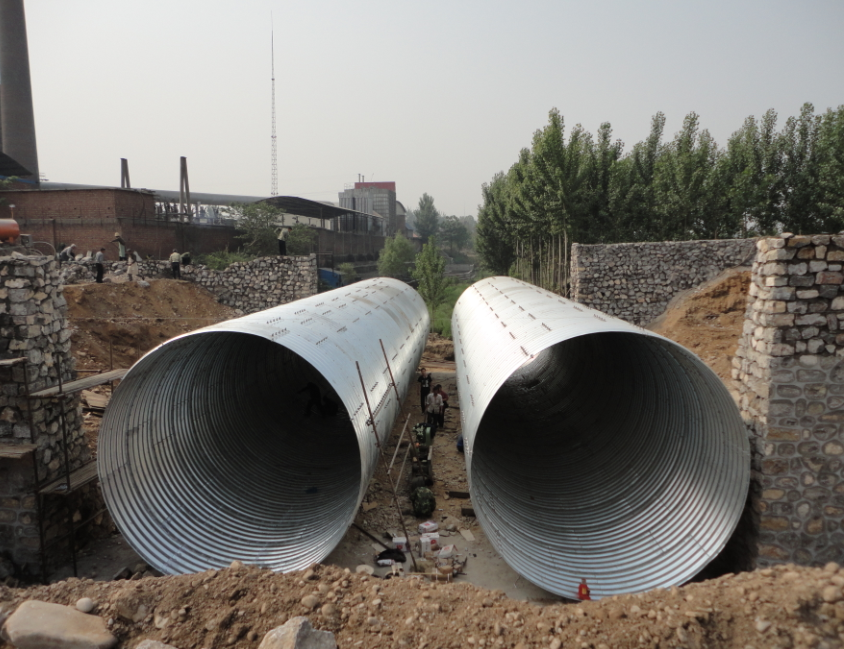 Riveted Corrugated Steel Pipe