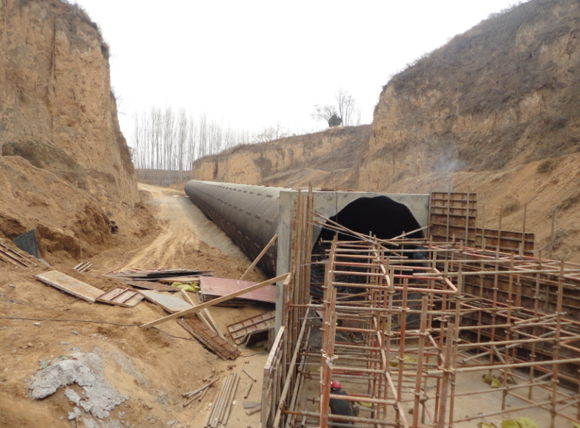 corrugated metal pipe culvert