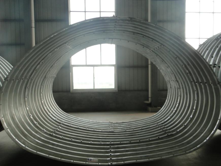 Corrugated steel arch culvert