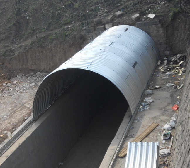 Corrugated steel culvert