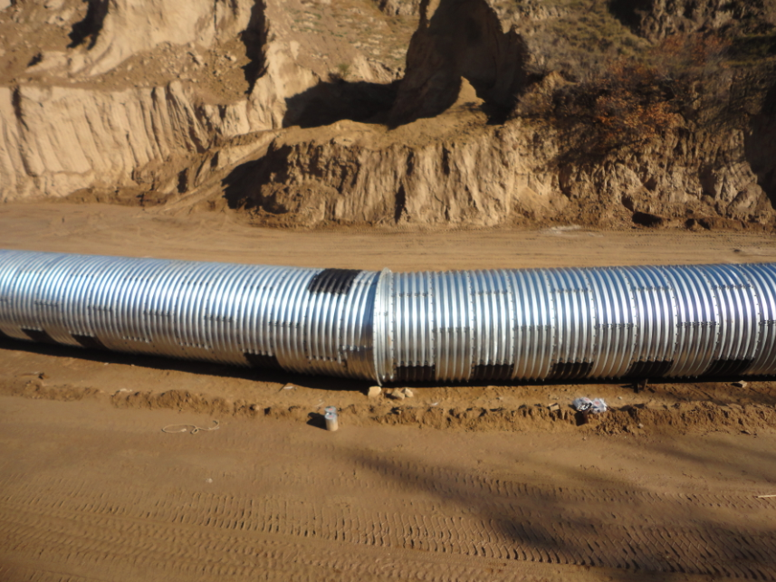 Anticorrosive corrugated steel pipe