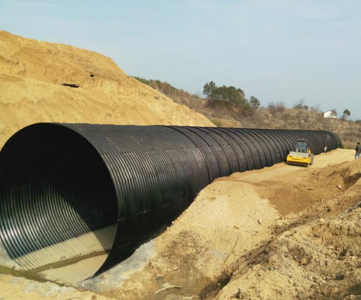 Steel irrigation culvert pipe