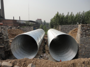Corrugated metal pipe with stable performance and a wide range of applications